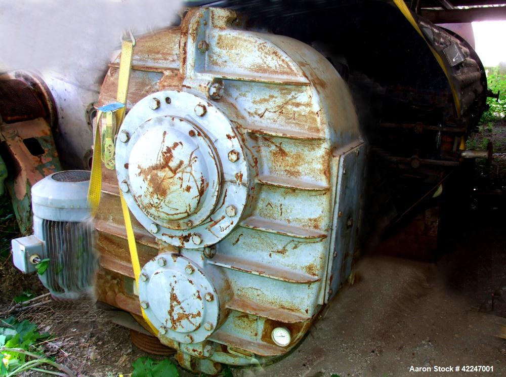Used-Buss Rotary Vacuum Dryer, type SF6300. Material of construction is stainless steel. 222 cubic foot (6300 liter) capacit...