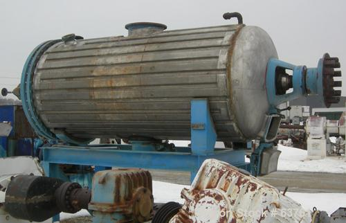 Used- Buss Type Rotary Vacuum Dryer, 4000 Liter, 82 Cubic Feet Working Capacity