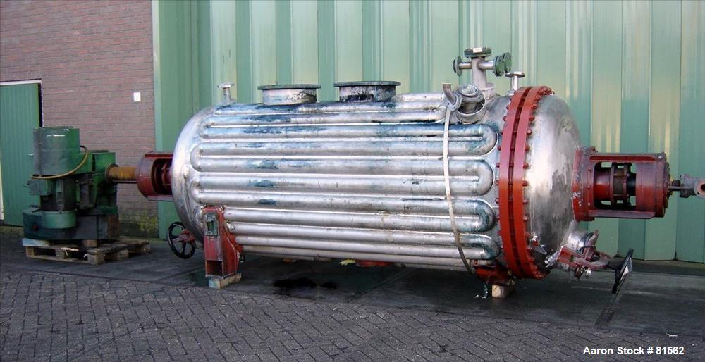 Used- CMR Rotary Vacuum Dryer, 75 Cubic Feet Working Capacity.