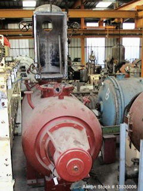 Used-Cogeim EO-3 Rotary Vacuum Dryer. Capacity 3400 liters (898 gallons), 15 kW (25 hp) motor and double jacket heating. Mat...