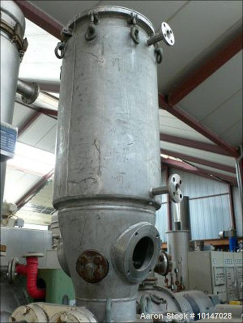 "Used-Comber Vacuum Paddle Dryer, stainless steel, capacity 4.4 cubic feet (125 liter). Trough diameter 17.7"" x 31.5"" (450 x ..."