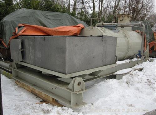 Used-Drais GmbH Rotary Vacuum Dryer, type TR2000. Material of construction is stainless steel. Capacity 70.32 cubic feet (20...