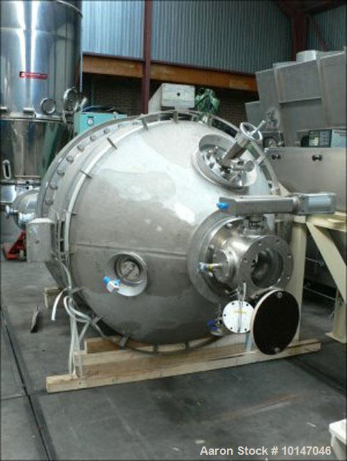 Used-Ekato Schopfheim VST-1600 Pharma Vertical Dryer, stainless steel 1.4404 with polished inside. Ribbon mixing shaft with ...
