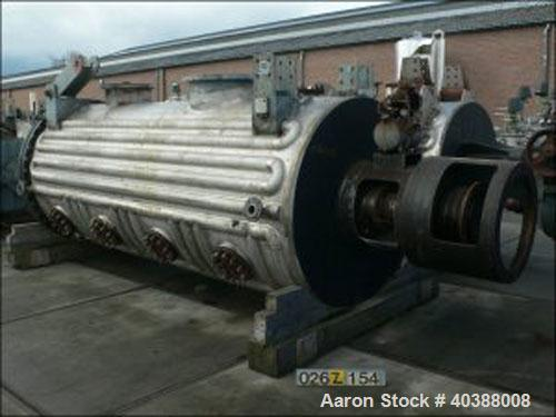 Used- Giovanola Rotary Vacuum Dryer. Material of construction is 316TI stainless steel on product contact parts. Stainless h...