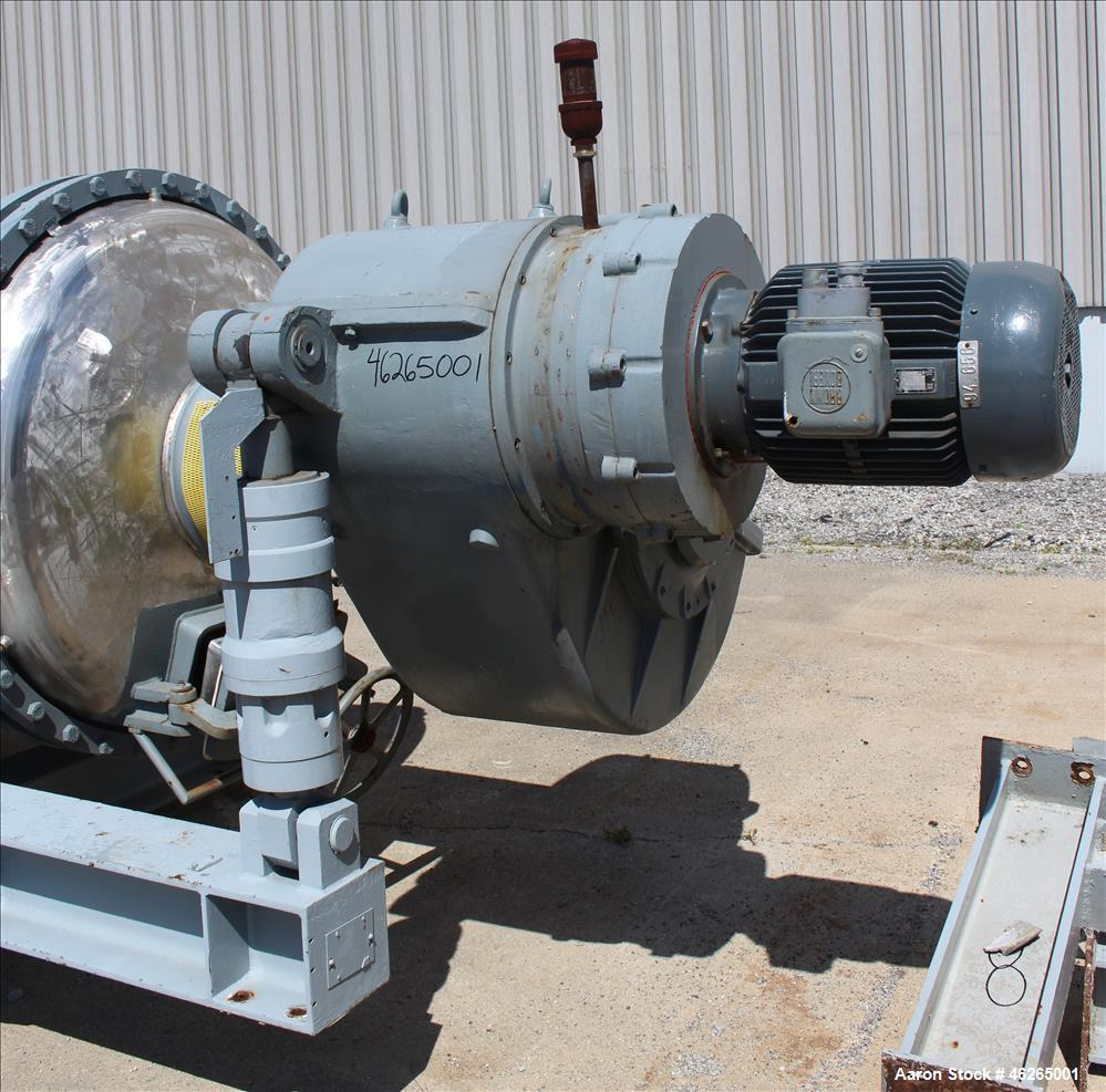 Used- Giovanola Rotary Vacuum Dryer, (4000 Liter) 141 cubic foot.