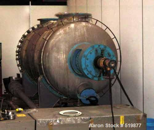 """USED: Giovanola rotary vacuum dryer (2500 liter) 88.3 cu ft workingcapacity, 316 stainless steel (V4A), horizontal. 49.2"""" di..."""