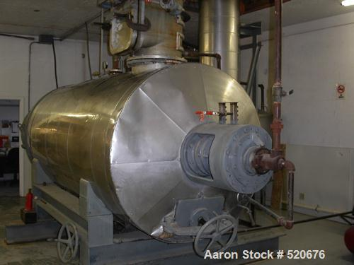 """USED: Giovanola 141 cubic foot rotary vacuum dryer, stainless steel. Approximate internal dimensions 58"""" diameter x 125"""" lon..."""