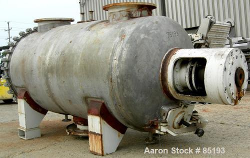 Used- Giovanola Rotary Vacuum Dryer, 49 Cubic Feet, 316 Stainless Steel.