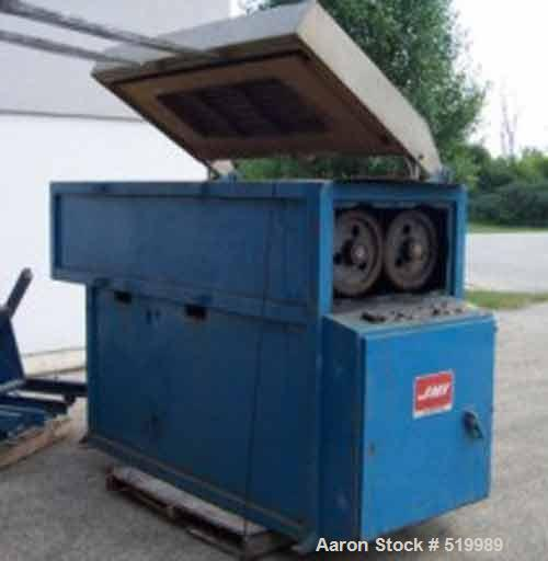 "USED: JWI electric batch dryer, model 1400E. 106"" wide x 52"" front to back. Hydraulic dumper to load sludge into the top of ..."