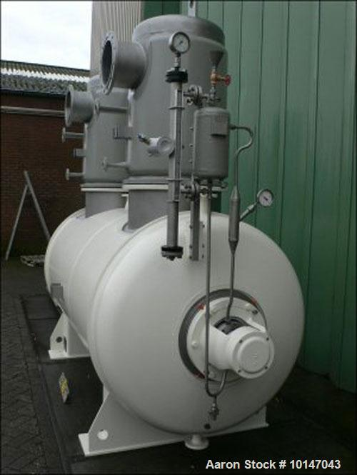 Used-Lodige DVT-4000 Paddle Dryer, stainless steel (1.4571), capacity 141.3 cubic feet (4000 liters). Trough sizes: diameter...