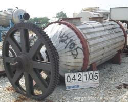 Used- Buss Rotary Vacuum Dryer, 84 Cubic Feet Working Capacity, 316 Stainless St
