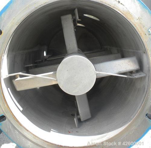 Used- Paul O Abbe Rota-Blade Vacuum Dryer, Model Size RBM, 8.1 cubic feet working capacity, 13.5 total, 304 stainless steel....