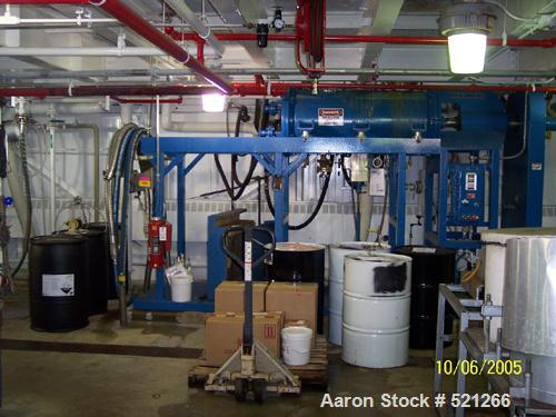 USED: Paul O Abbe Rota-Blade vacuum dryer, type B. Approximately 8.1 cubic feet, 304 stainless steel. Horizontal chamber rat...