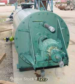 Used- Stokes Rotary Vacuum Dryer, Model 900-059-050, 53 Cubic Feet Working Capacity (106 Total), 304 Stainless Steel. 3' dia...
