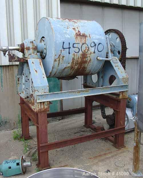 "USED: Stokes model 100AB rotating vacuum dryer. 28"" diameter x 36"" straight side, stainless steel. Internal FV. Jacketed and..."