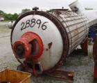Used- Buss Type Rotary Vacuum Dryer, 84 Cubic Feet Working Capacity, 316 Stainle