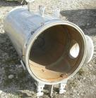 Used- Buss Rotary Vacuum Dryer, Type S6300, 316 Stainless Steel Product Contact Area. 304 stainless channel jacket. 293 cubi...
