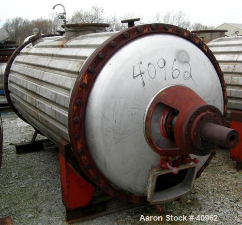 Used- Vevey Rotary Vacuum Dryer, 85 Cubic Feet Working Capacity, 316 Stainless S
