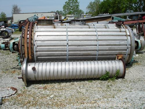 Used- Vevey Rotary Vacuum Dryer, 84 Cubic Feet Working Capacity, 304 Stainless S
