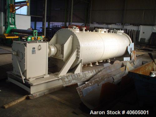 Used-Young Rotary Vacuum Dryer. 4' x 14', 140 cubic feet working capacity based on 80% capacity. 316L stainless steel contac...