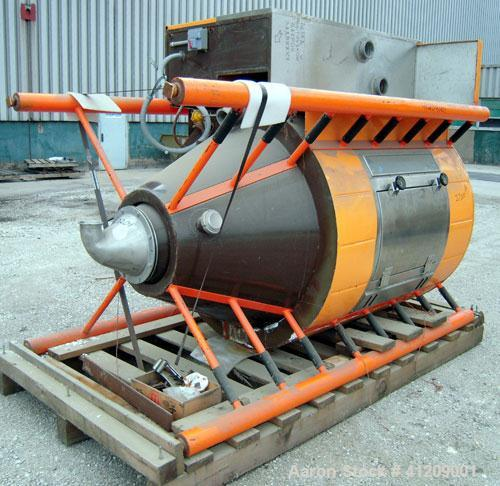 """Used- APV Anhydro Electrically Heated """"Compact"""" Spray Dryer, 316 stainless steel . 49"""" diameter x 36"""" straight side x 43""""con..."""