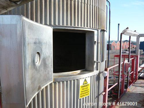 Used-APV Anhydro Spray Dryer. Stainless steel construction. 363 lbs (165 kgs) per hour. Atomizer head. Gas fired drying. 11'...