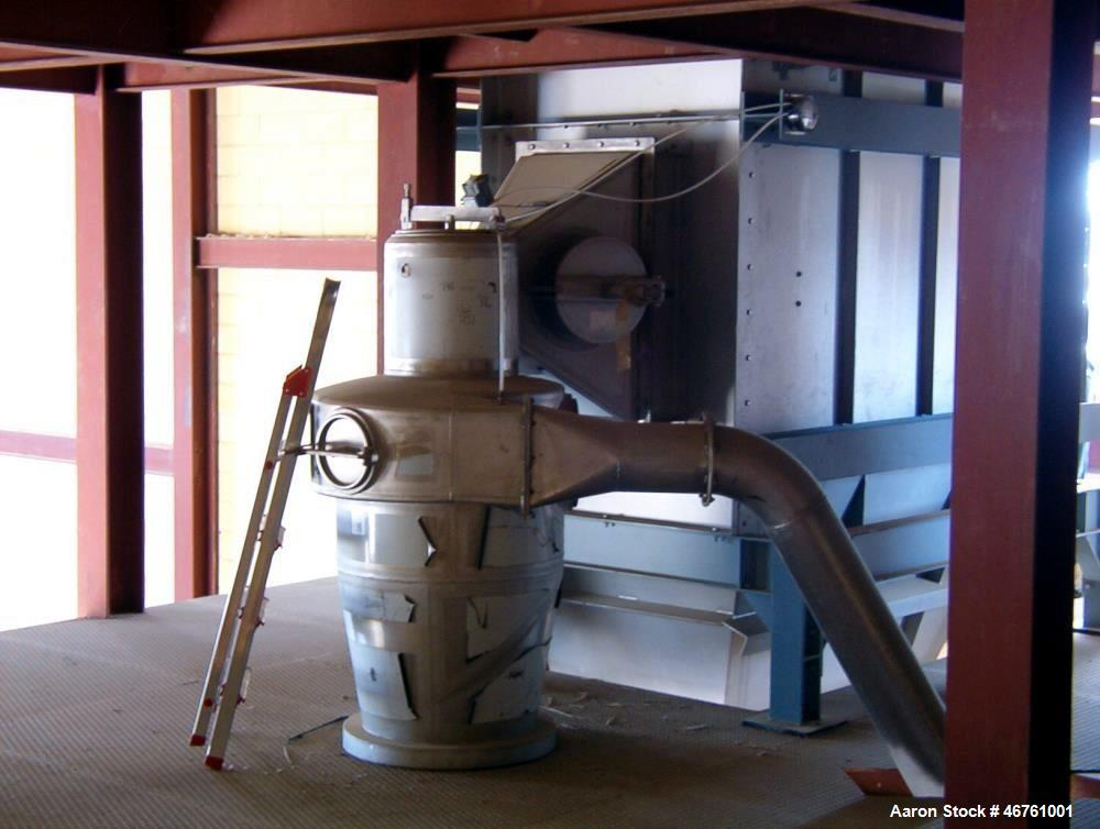 "Used- APV Anhydro Conical Spray Dryer. Type CSD No 65, stainless steel. Dryer body is approximately 90"" diameter x 20 high i..."