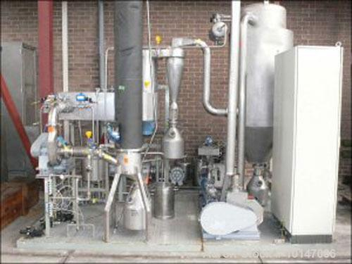"""Used-APV Anhydro spray dryer """"closed circuit spin flash dryer"""", no. BEL-521, new 1995, in stainless steel (316), drying towe..."""