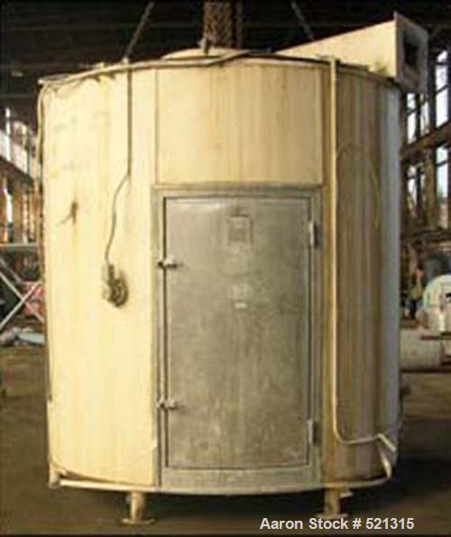 """USED: 8' APV Anhydro spray dryer, type III-A, No 4. 8' diameter x 100"""" straight side, flat bottom, stainless steel construct..."""
