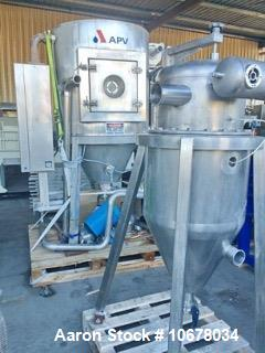 Used- APV Spray Dryer, Model PSD 52. Stainless steel contact parts. Water evaporation rate, max: 10 kg/h. Drying air rate, m...