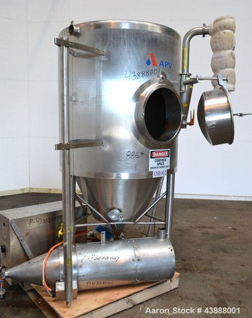 """Used- APV Nordic Andhydro Pilot Spray Dryer, Type PSD-52 Basic Plant, 316 Stainless Steel. Nozzle type atomizer. Dryer 39"""" d..."""