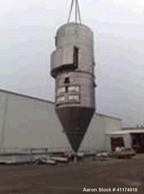 Used- APV Pasilac Anhydro Spray Dryer, stainless steel, evaporation capacity 1764 - 2200 lbs/hour (800 - 1000 kg/hour), 660 ...