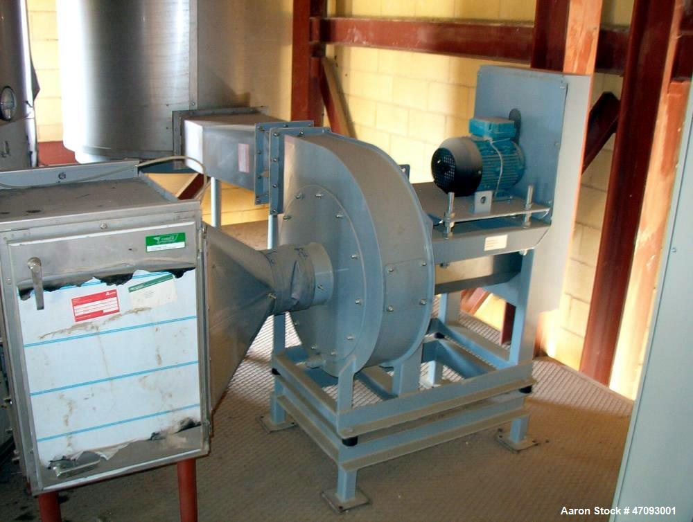 """Used-APV Anhydro Conical Spray Dryer, Type CSD No 65. Stainless steel, dryer body is approximately 90"""" diameter x 20' high i..."""