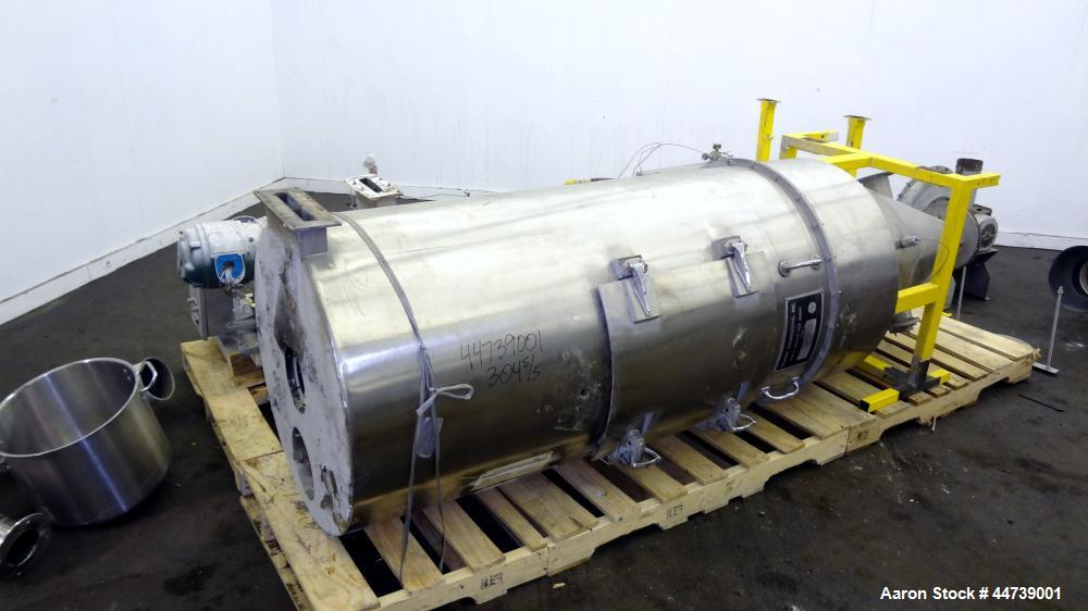 """Used- Bowen Engineering Gas Heated Conical Type Laboratory Spray Dryer, 304 Stainless Steel. 30"""" diameter x 72"""" straight sid..."""