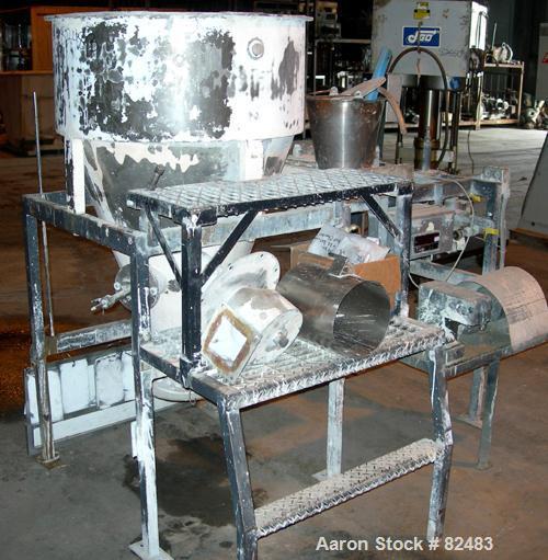 "Used- Bowen Engineering Gas Heated Ceramic Type Lower Laboratory Spray Dryer, 316 Stainless Steel. 30"" diameter x 72"" straig..."