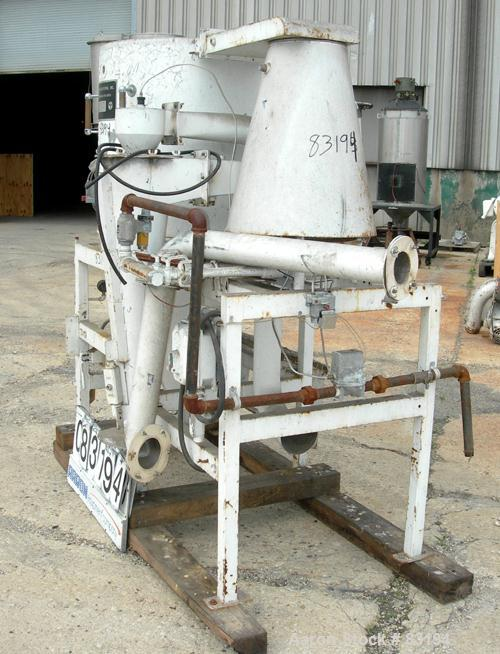 "USED: Bowen Engineering conical type laboratory spray dryer, 316 stainless steel. 30"" diameter x 28"" straight side x 38"" con..."