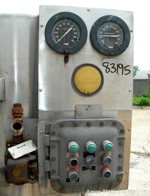 "USED: Bowen Engineering BLSA laboratory spray dryer, 316 stainless steel. 30"" diameter x 28"" straight side x 30"" coned botto..."