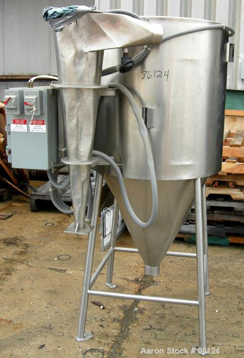 "USED: Bowen Engineering laboratory spray dryer, 316 stainless steel. 30"" diameter x 28"" straight side x 30"" coned bottom. Ap..."