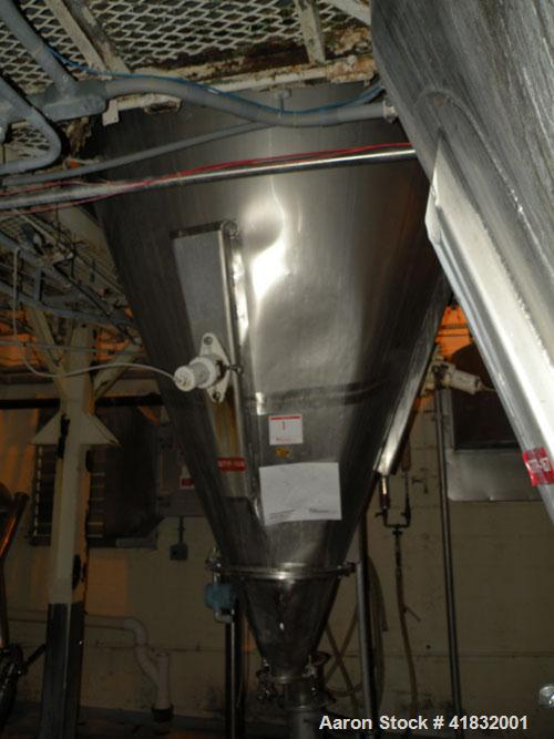 "Used- DeLaval Spray Dryer, Stainless Steel. Approximately 72"" diameter x 20' straight side x 72"" coned bottom. Gas heated, h..."