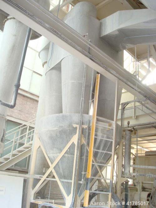"""Used-Dorst D 1600 Gas Fired Spray Dryer, stainless steel. 236.2"""" (6000 mm) diameter x 278.6"""" (7000 mm) dep with 236.2"""" (6000..."""