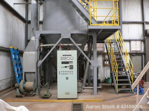 Used- Marulan Engineering Spray Dryer, Model D-0625R, stainless steel, SA-40 rotary atomizer. Approximately 10' diameter x 2...