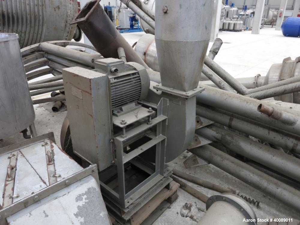 Used- Niro Spray Dryer, Model C3. 304 stainless steel, gas fired, capacity: 168 Kg/h. Evaporative capacity approximately 180...