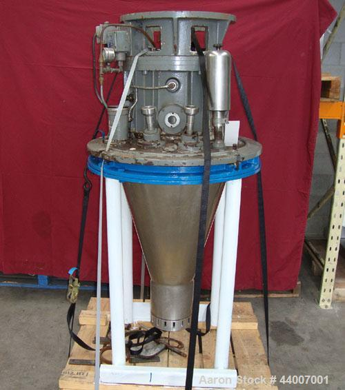 """Used-Niro Atomizer, Model F100 FBC06.  Wheel speed range 7,250 - 17,750 rpm.  Feed rate max 17 t/h.  Feed pipe 1"""" BSP.  Cool..."""