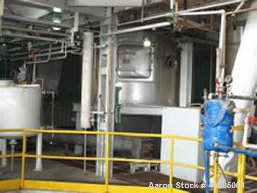 Used-Niro Fluidized Spray Dryer, model FSD-0050-N-FV, mfg 1994. 316L stainless steel, 250 kg/hour @ 40% solids. Also include...