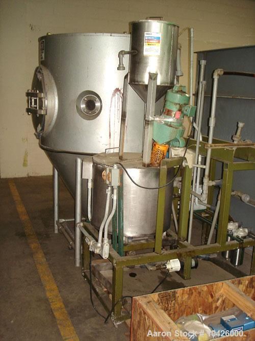 Used-Niro Spray Dryer, 3 separators, dust collector, atomizer. Production Minor Model II, FU-II rotary atomizer with rebuilt...