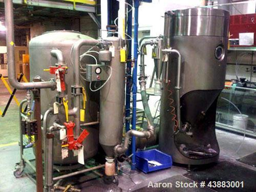 Used- Niro MM-XP Mobile Minor Spray Dryer / Catalyst Spray Dryer, Solvent and Recovery System. 316 Stainless steel product c...