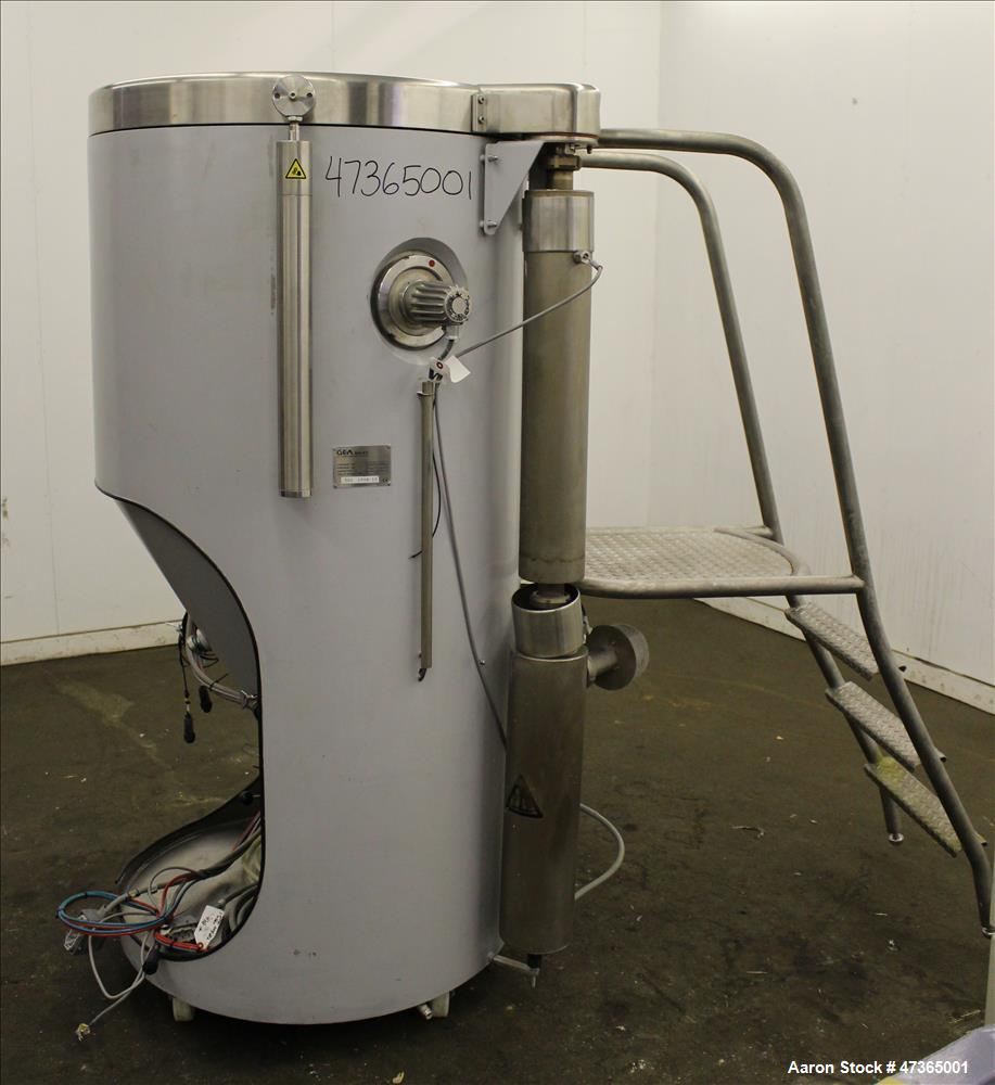 Used- GEA Niro Mobile Minor Spray Dryer, Component Size 0.8, 316 Stainless Steel