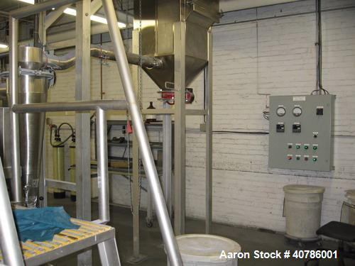 Used- Niro/Bowen #1 Tower Gas Heated Spray Dryer, 316 stainless steel. Approximately 30'' diameter x 74' straight side x 36'...
