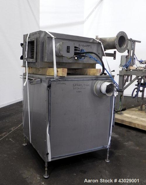 Used- GEA Niro Spray Dryer, Model SD-6.3N, 316 Stainless Steel. Fountain nozzle type dryer. Drying chamber is approximately ...