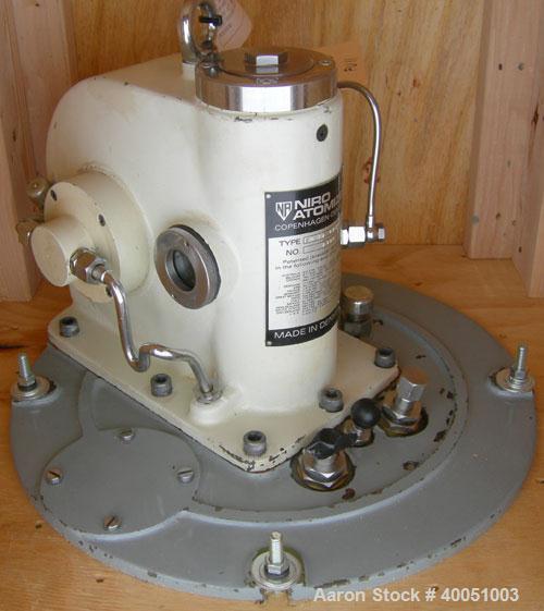 "Used- Niro Model FU-11BAA06 Wheel Type Atomizer.  4 3/4"" diameter, 316 stainless steel wheel.  Serial #1365."